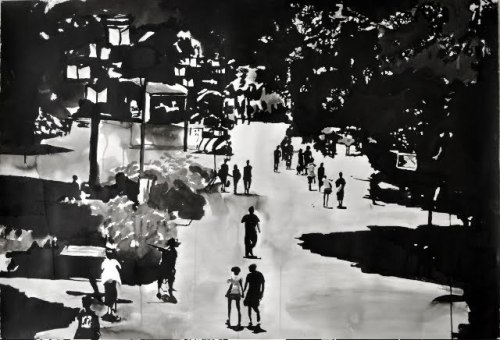 Sunday_life_observations_01_sumi_ink_on_paper_110_x_79_cm_2009