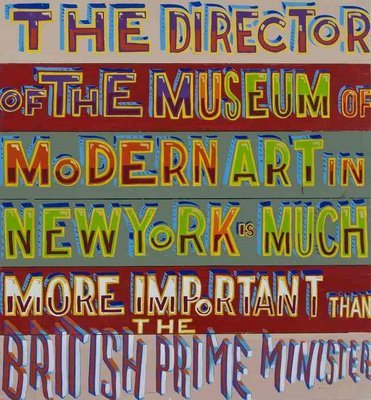 Thedirectorofmoma_2008_signwriterspaintonboard_86x80cm